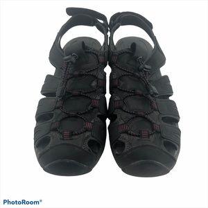Sz 10 Khombu Ashley Black Sandals EUC